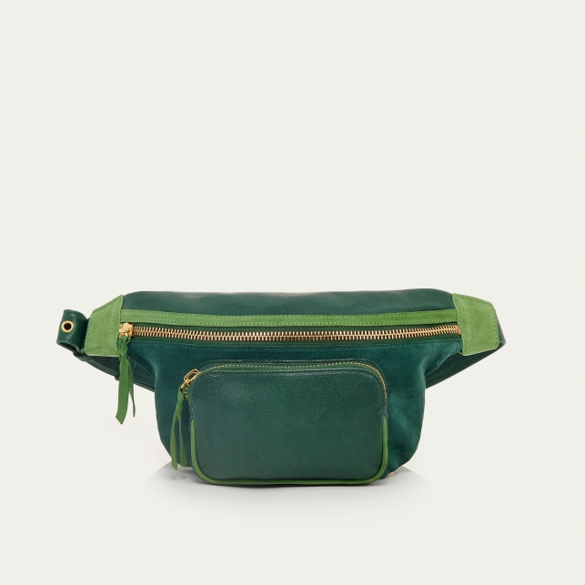 Green Mix Leather Fanny Pack Romeo