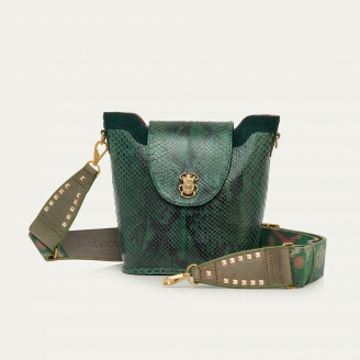Green Forest Python Bucket Bag Zak