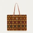 Sumba Burgundy Mustard Shopping Bag Archi