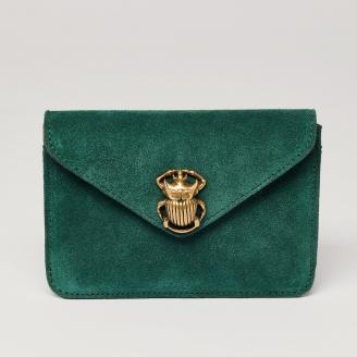 Blue Cypress Leather Card Holder Alex Beetle