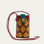 Sumba Burgundy Phone Bag Double Marcus
