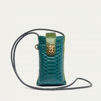 Green Blue Python Phone Bag Double Marcus