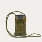 Kaki Mustard Lizard Phone Bag Double Marcus