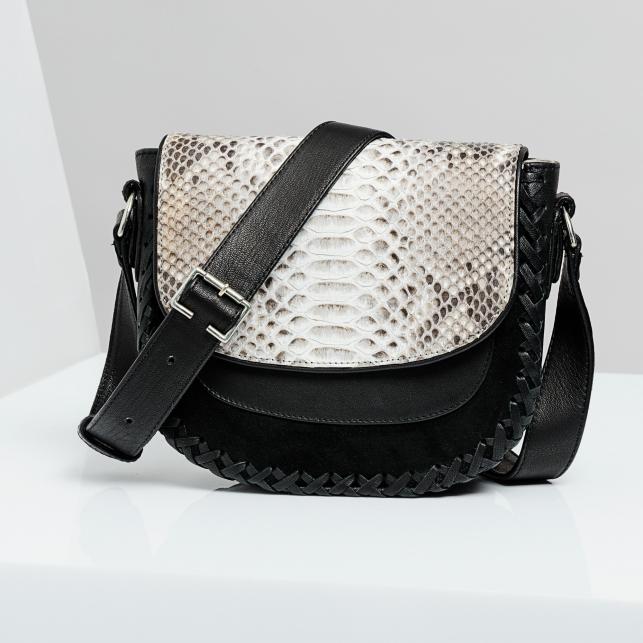 Claris Virot: Bag Andrea Diamond/Black - Hiphunters Shop
