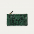 Green Forest Python Helena Card Holder