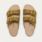 Kaki Mustard Lizard Odette Sandals