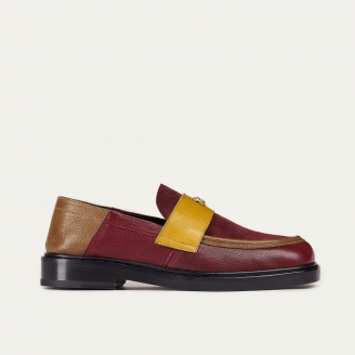 Kaki Mustard Leather Mia Moccasin