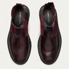 Burgundy Leather Ziggy Chelsea Boots