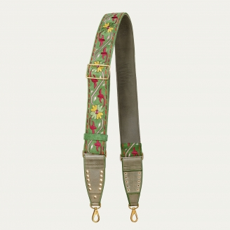 Matcha Leather & Embroidery Strap
