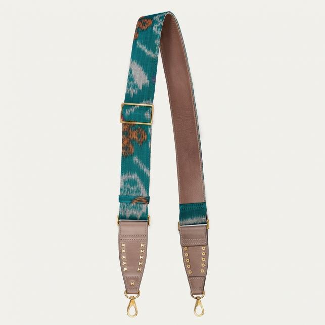 Green Blue Endek Gold Strap