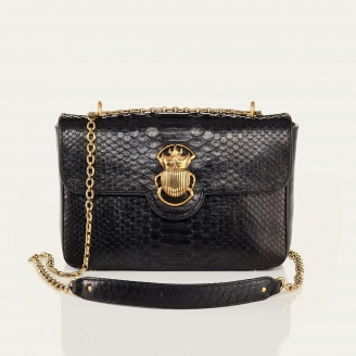 Black Python Bag Big Ava Beetle