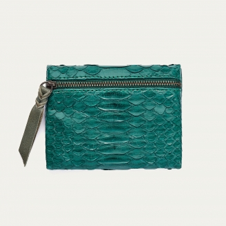 Green Blue Python Olivia Coin Holder