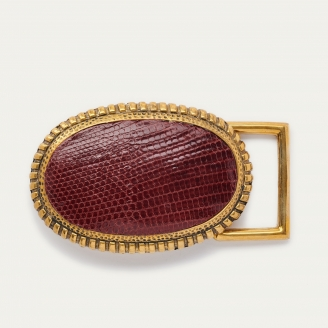 Burgundy Lizard Dallas Buckle