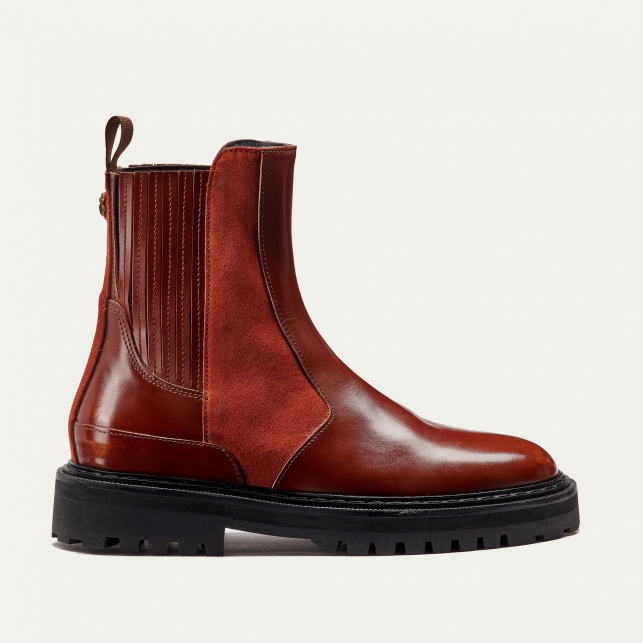 Camel Leather Ziggy Chelsea Boots
