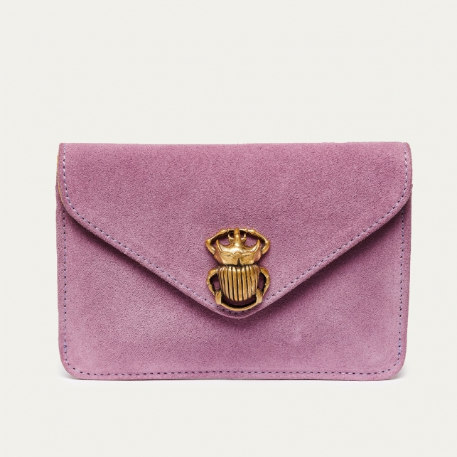Pink Leather Card Holder Alex Beetle