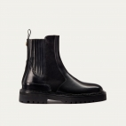 Black Leather Ziggy Chelsea Boots