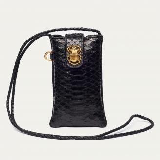 Black Python Phone Bag Marcus