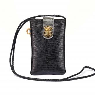 Black Lizard Phone Bag Marcus