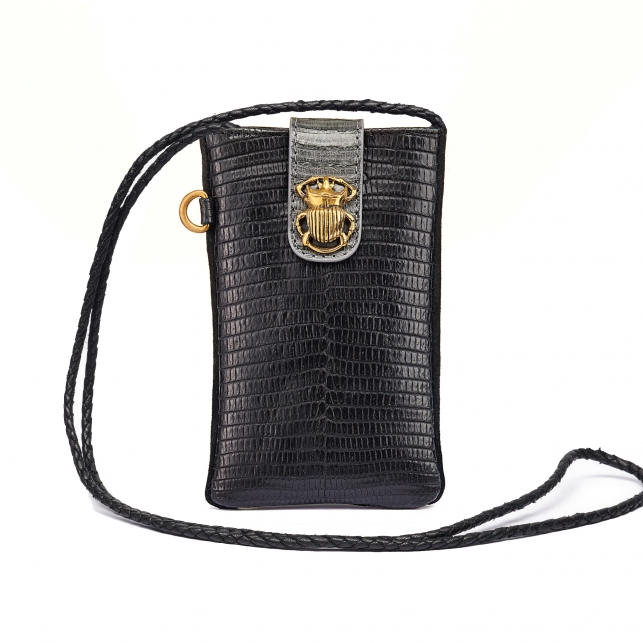 Black Lizard Phone Bag Marcus