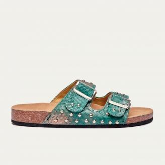 Sandales Python Odette Aqua