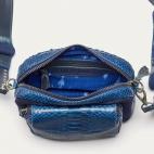 Sac Python et Suede Charly Bleu Cobalt