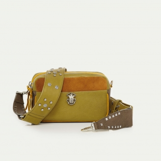 Sac Cuir Lily Moutarde