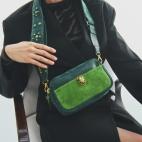 Green Calfskin Bag Lily