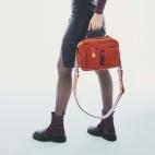 Brick Leather Cesar Bag