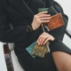 Coin Holder Olivia Python Khaki