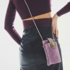 Pink Leather Phone Bag Double Marcus