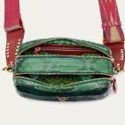 Golden Dark Green Python Bag Lily