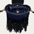 Black Navy Python Bucket Bag Zak