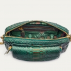 Golden Dark Green Python Bag Big Charly