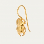 Golden Beetle Earring