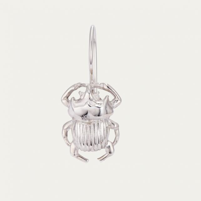 Silver Beetle Earring