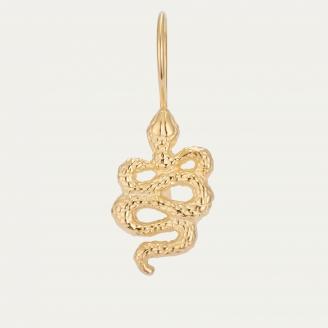 Boucle d'Oreille Serpent Dorée