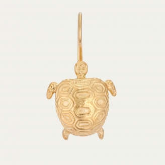 Golden Turtle Earring