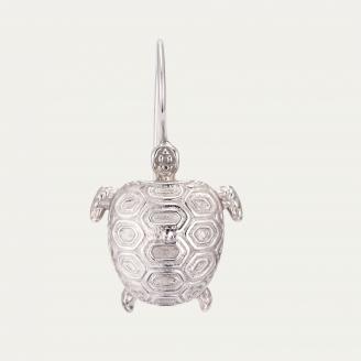 Silver Turtle Earring