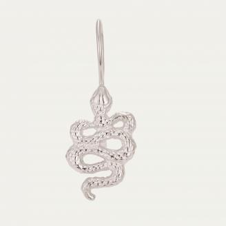 Silver Snake Earring