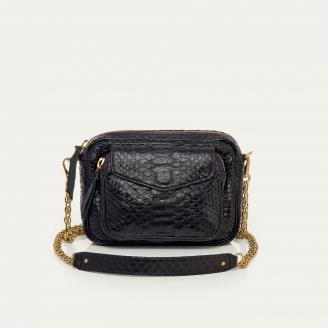 Gold Chain Black Python Charly Bag