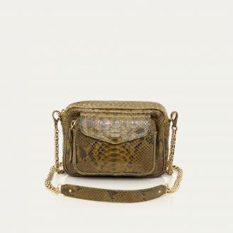 Bag Charly Dark Kaki Python