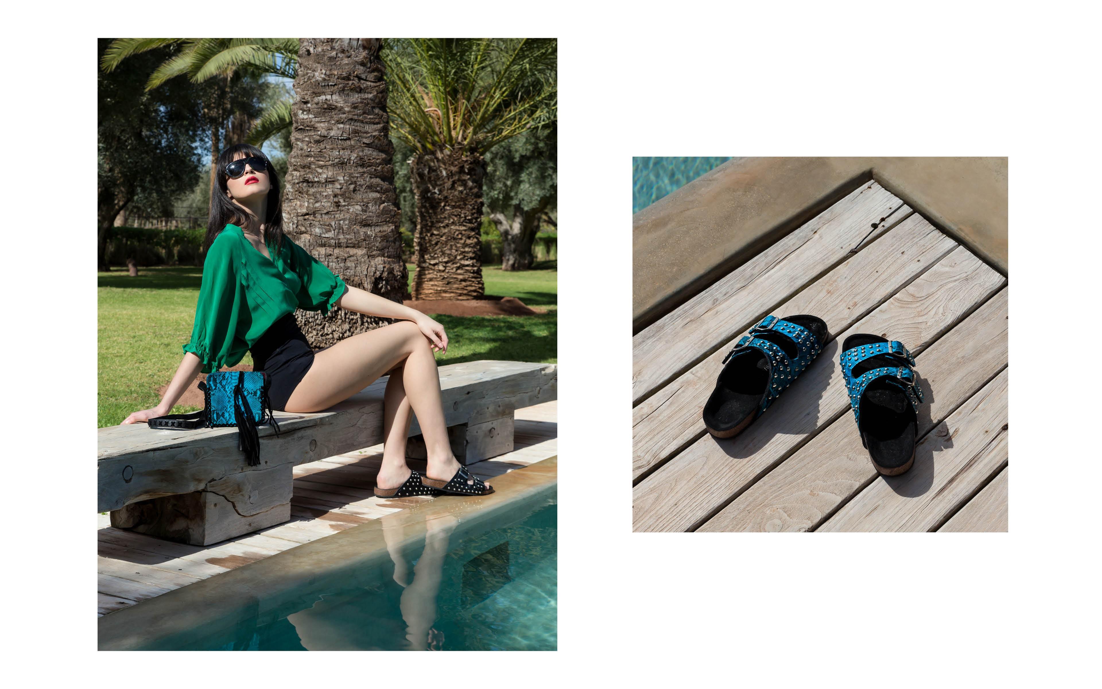 Chiara turquoise & Odette Turquoise