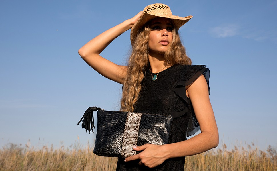 Python Clutch Black and Water Snake